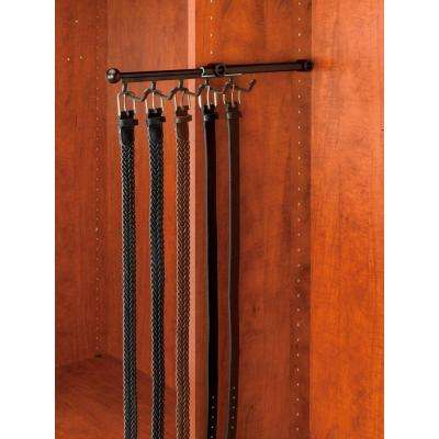 7-Hook Oil Rubbed Bronze Pull-Out Belt Scarf Rack