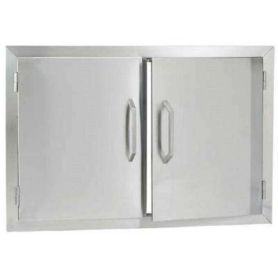 Stainless Steel Double Access Storage Doors - Bullet by Bull