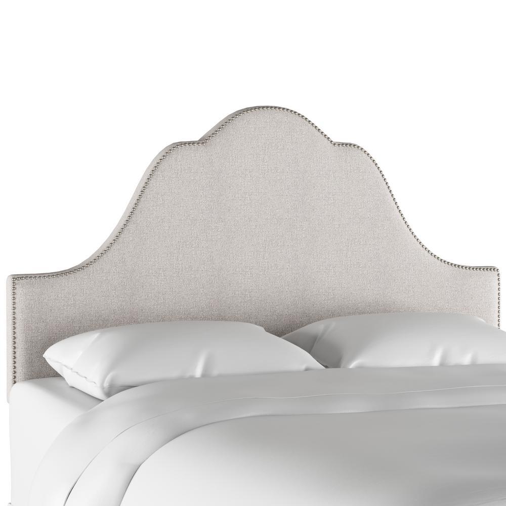 Skyline furniture aiden platinum full arch nail button headboard