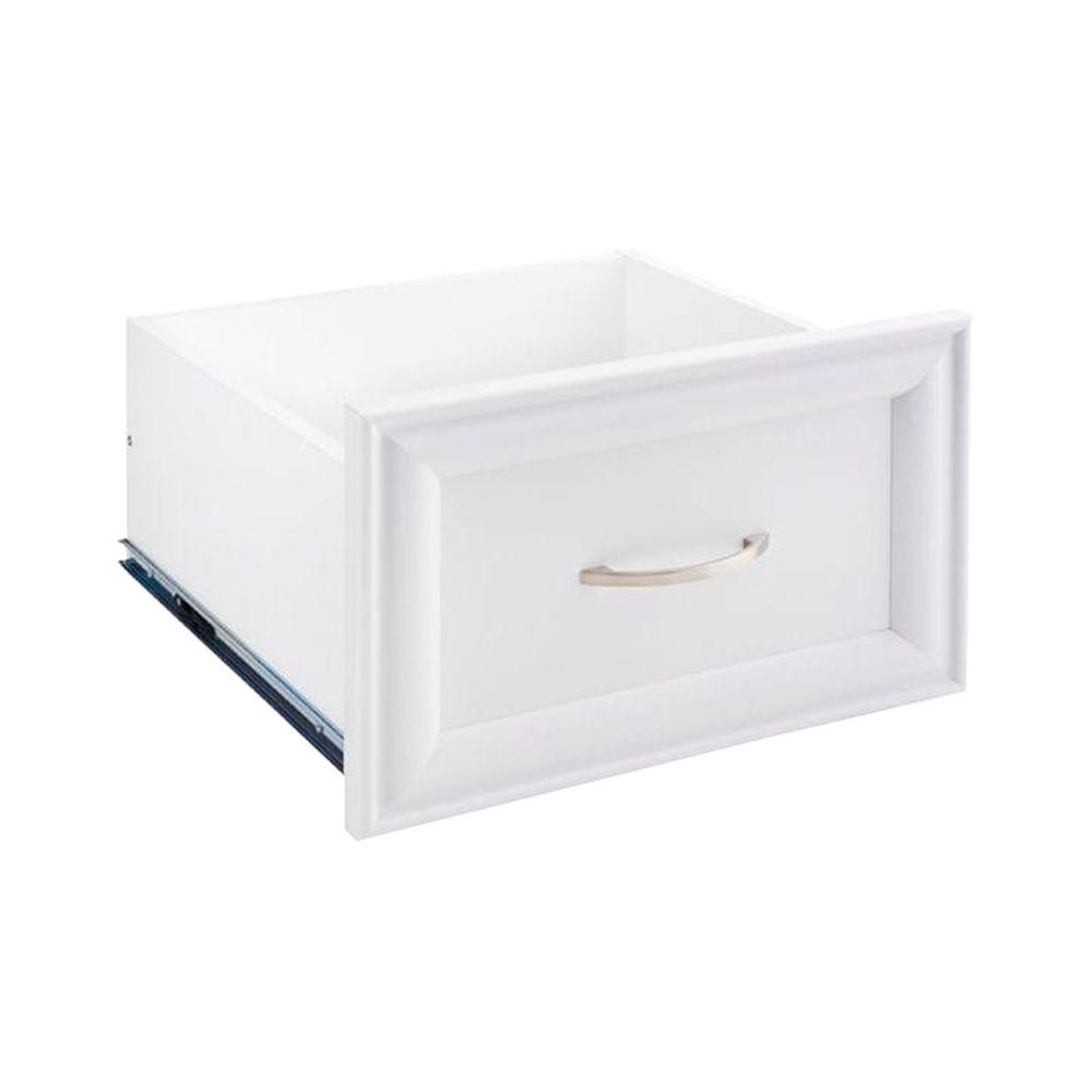 16 in. x 10 in. White Decorative Wood Drawer