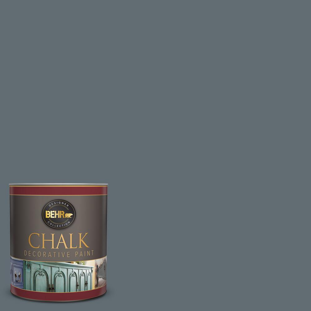 Behr 1 Qt Bcp44 Onyx Gray Interior Chalk Finish Paint