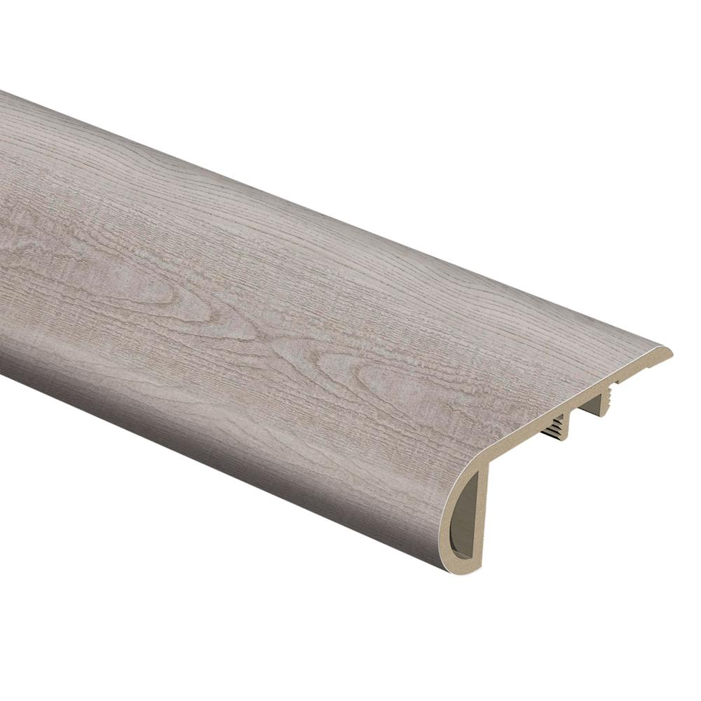 Coastal Oak/Silver Sycamore 3/4 in. Thick x 2-1/8 in. Wide x 94 in. Length Vinyl Stair Nose Molding