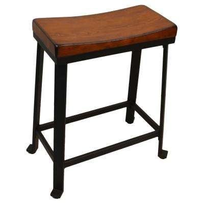 Thea 24 in. Chestnut Saddle Seat Stool