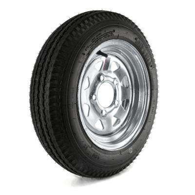 480-12 Load Range B 5-Hole Galvanized Spoke Trailer Tire and Wheel Assembly