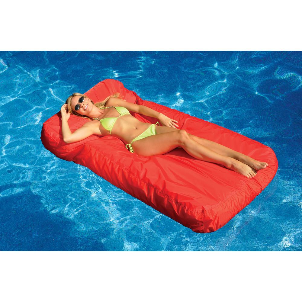 swimline sunsoft inflatable pool lounger 15030 r the home depot. Black Bedroom Furniture Sets. Home Design Ideas