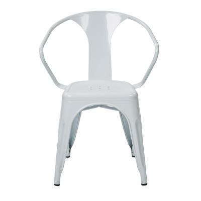 Patterson White Metal Chair (Set of 2)