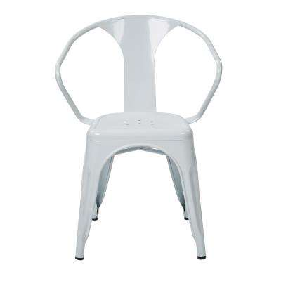 Patterson White Metal Chair (2-Pack)