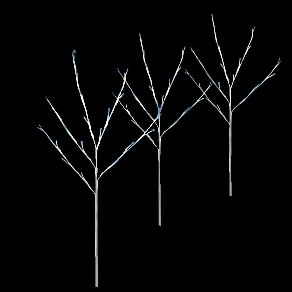 null Twig Tree Blue Pathmarkers (Set of 3)