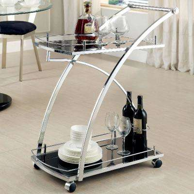 Springs Chrome Serving Cart