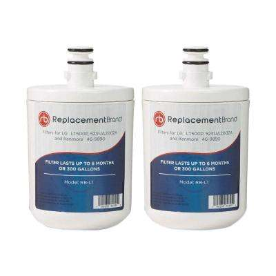 LG LT500P Comparable Refrigerator Filter by Replacement Brand (2-Pack)