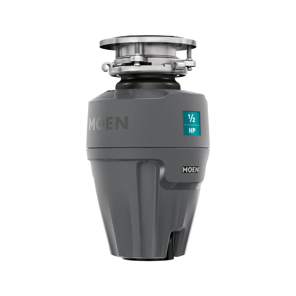 MOEN Prep Series 1/2 HP Continuous Feed Garbage Disposal with Sound Reduction and Universal Mount