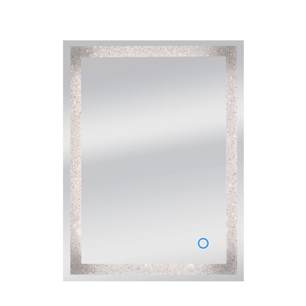 Dyconn 24 In X 32 In Edison Crystal Wall Backlit Led Mirror With Touch On Off Dimmer And Anti Fog Function M13at2432wc The Home Depot