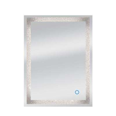 24 in. x 32 in. Edison Crystal Wall Backlit LED Mirror with Touch On/Off Dimmer and Anti-Fog Function