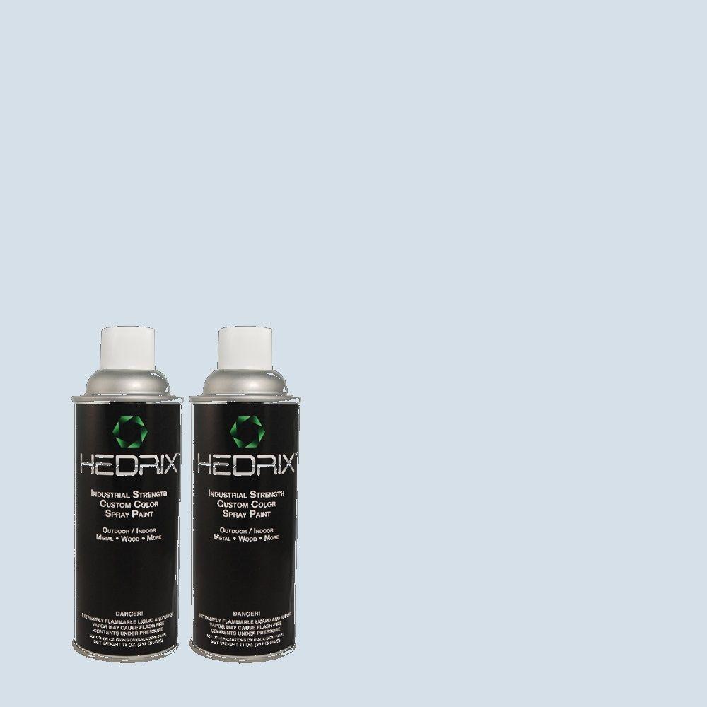 Hedrix 11 oz. Match of 1B37-2 Ghost Blue Flat Custom Spray Paint (2-Pack)