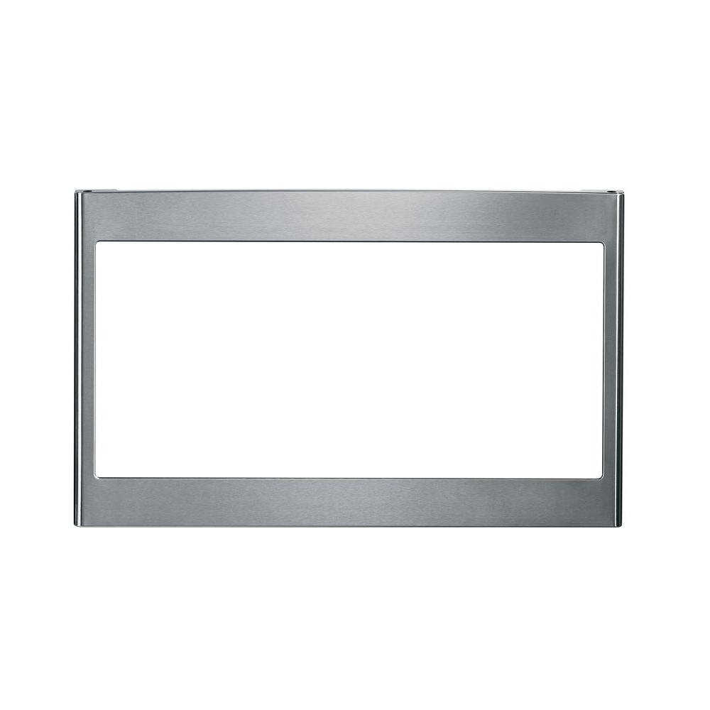 Built In Microwave Trim Kit Stainless Steel Jx827sfss The Home Depot