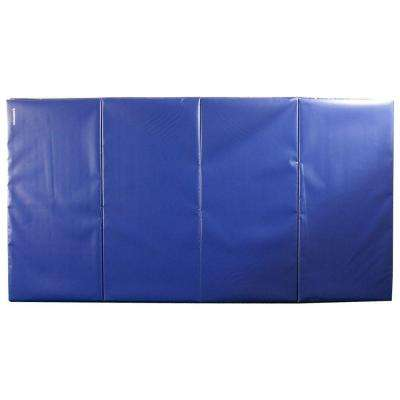 Folding Blue 4 ft. x 8 ft. x 2 in. 18 oz. Vinyl and Foam Gymnastics Mat