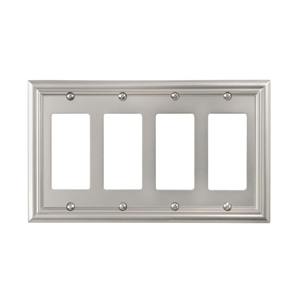 Amerelle Continental 4 Decora Wall Plate - Nickel