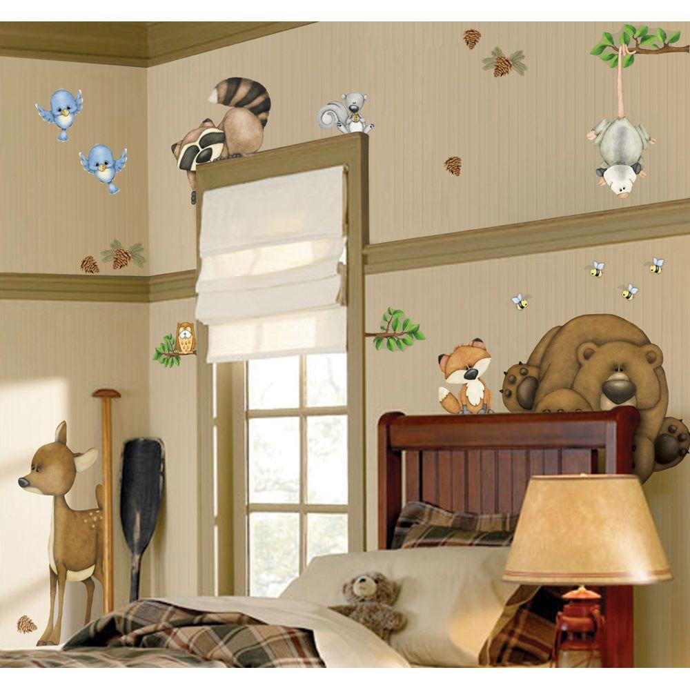 null 18 in. x 17 in. In the Woods Super Jumbo Wall Decal
