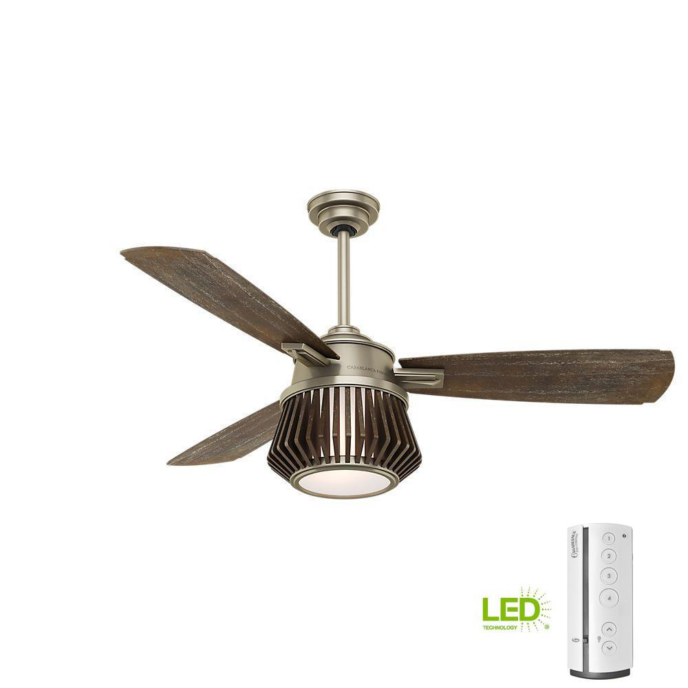 Glen Arbor 56 in. LED Indoor Metallic Birch Ceiling Fan