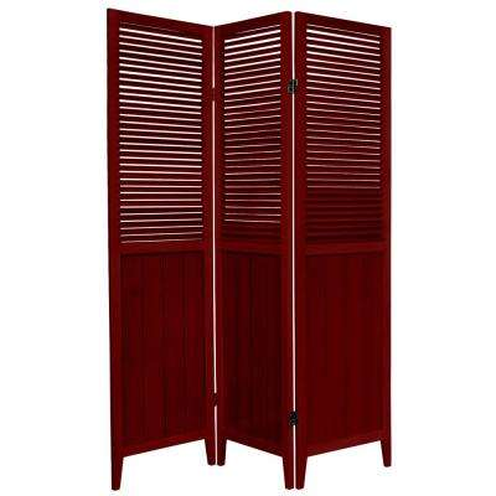 6 ft. Rosewood 3-Panel Room Divider