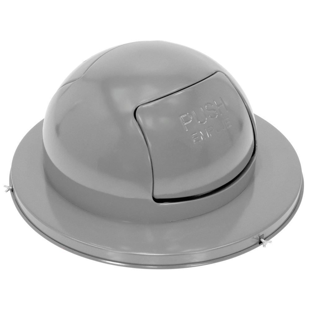 Steel Waste Disposal Top For Drum-Dual Door-Zinc Plated with Grey Paint Top Coat