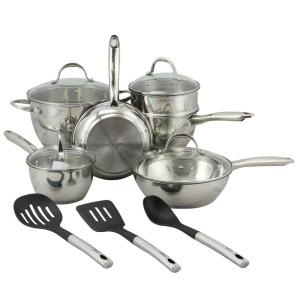 Oster Ridgewell 13-Piece Stainless Steel Cookware Set with Lids by Oster