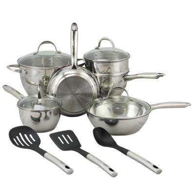 Ridgewell 13-Piece Stainless Steel Cookware Set with Lids