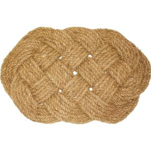 18 inch x 30 inch Coir Oval Knot Door Mat by