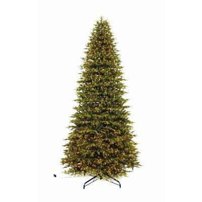 12 ft. Pre-Lit LED Aspen Fir Quick Set Artificial Christmas Tree with Warm White Micro Dot Lights
