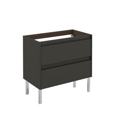 WS Bath Collections Ambra 80F 31.1 in. W x 17.6 in. D x 32.4 in. H Bath Vanity Cabinet Only in Anthracite
