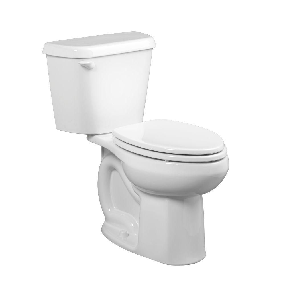 Colony 2-piece 1.6 GPF Single Flush Elongated Toilet in White, Seat