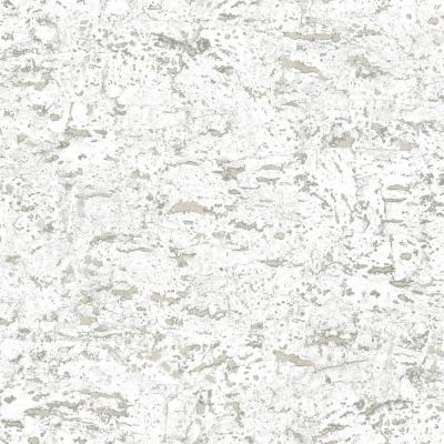28.18 sq. ft. Faux Cork White Peel and Stick Wallpaper