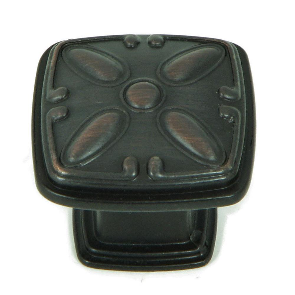 Stone Mill Hardware Edinborough 1-1/4 in. Oil Rubbed Bronze Square Cabinet Knob