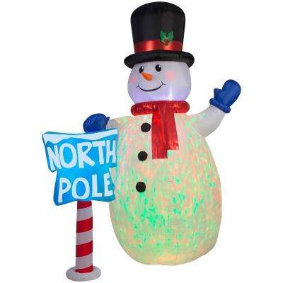 10 ft. Inflatable Projection Airblown Kaleidoscope Snowman