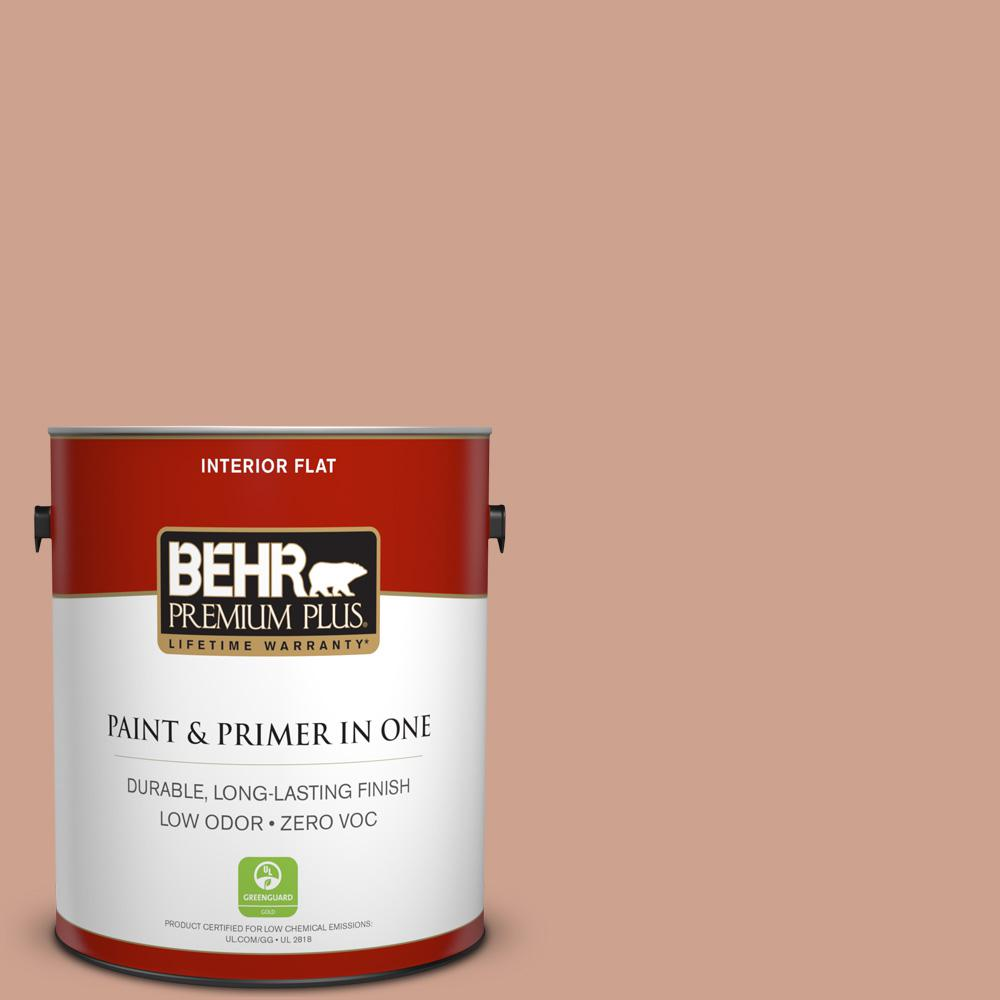 BEHR Premium Plus 1-gal. #230F-4 Autumn Malt Zero VOC Flat Interior Paint