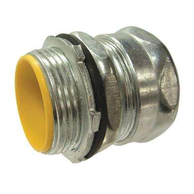 EMT 1-1/2 in. Insulated Raintight Compression Connector (10-Pack)