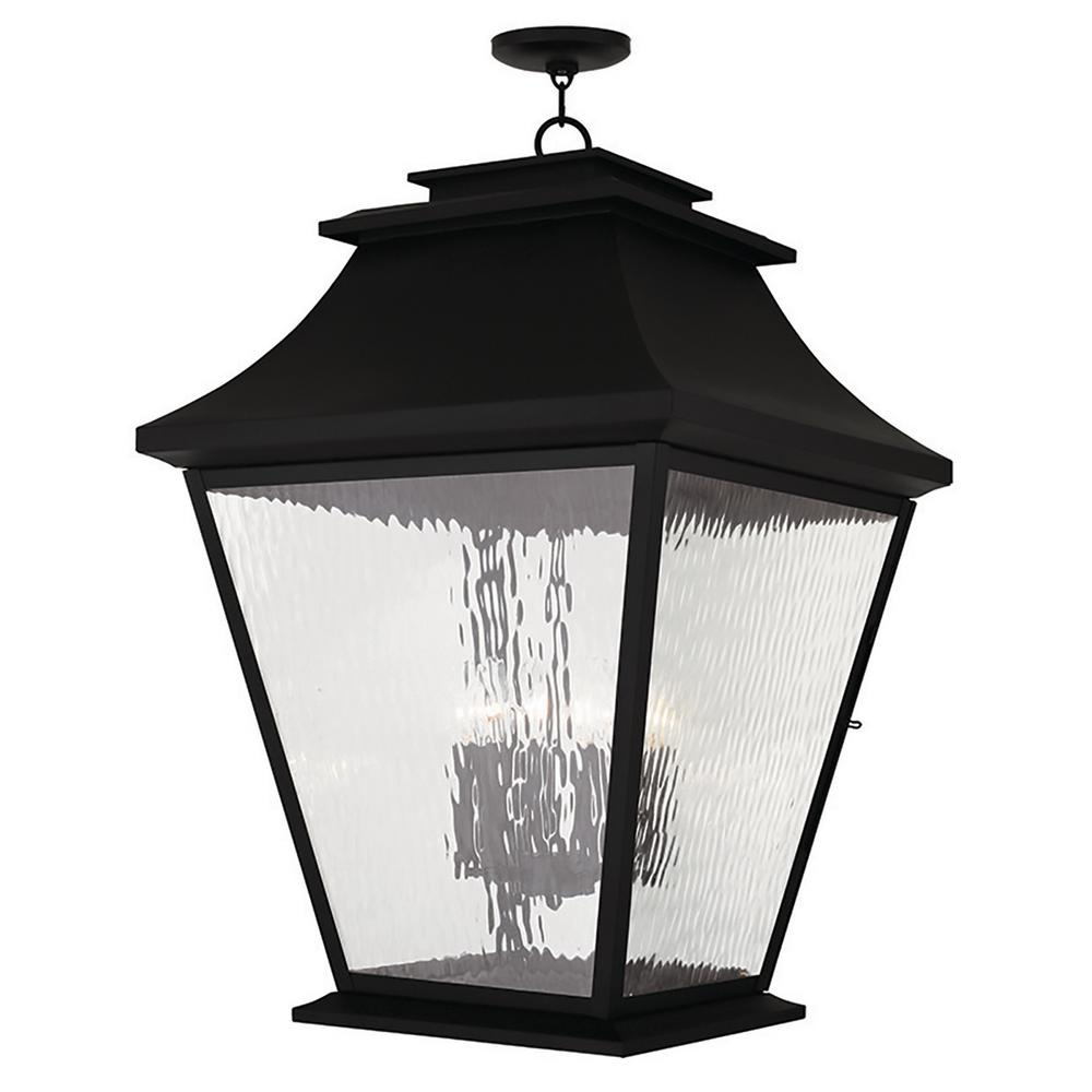 Hathaway Black 6-Light Outdoor Hanging Lantern