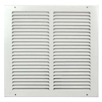 14 in. x 14 in. White Flat Return Air Steel Grille