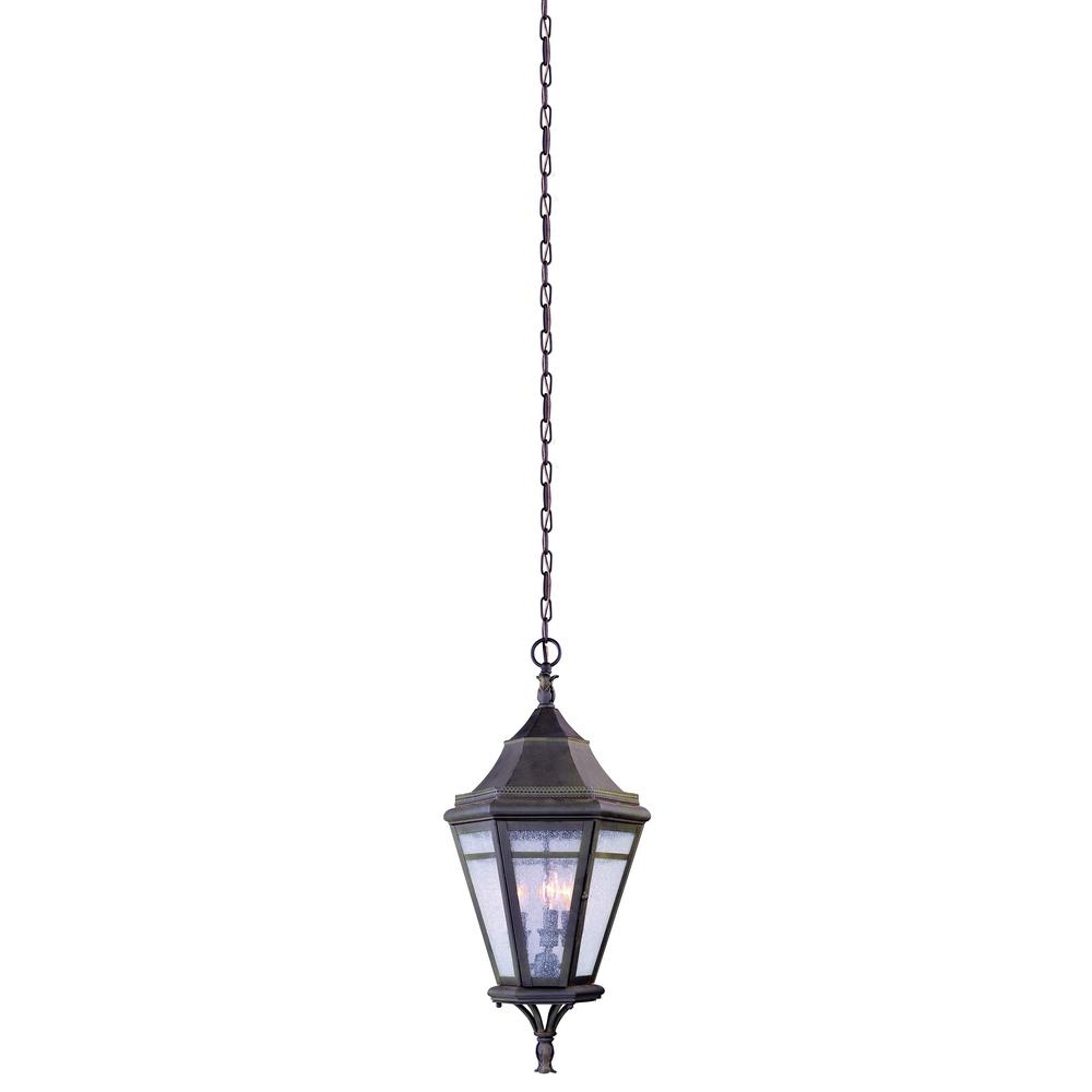 Troy Lighting Morgan Hill 3-Light Natural Rust Outdoor Pendant