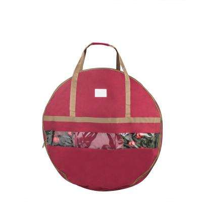 36 in. Red Ultimate Christmas Wreath Storage Bag