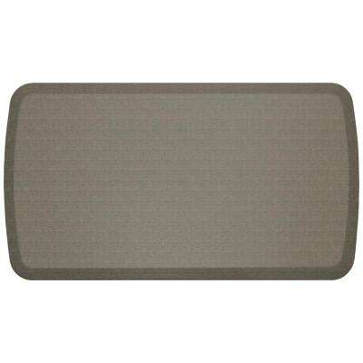 Elite Linen Granite Grey 20 in. x 36 in. Comfort Kitchen Mat