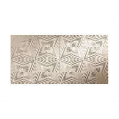 Echo 96 in. x 48 in. Decorative Wall Panel in Almond