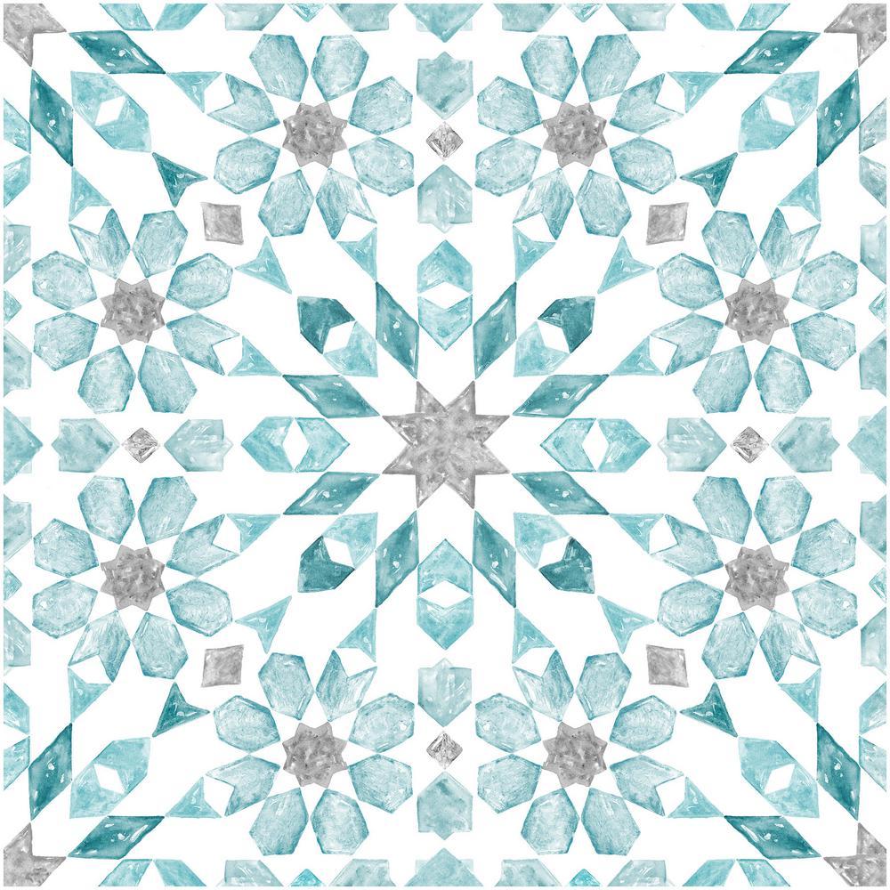 Floorpops 12 In X 12 In Radiance Peel And Stick Floor Tiles 20 Tiles 20 Sq Ft