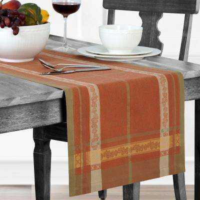 Promenade 16 in. W x 72 in. L Harvest Cotton Table Runner