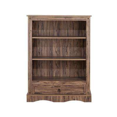 Wren Maple Veneer Simplicity Bookcase with 3-Shelves and 1-Drawer