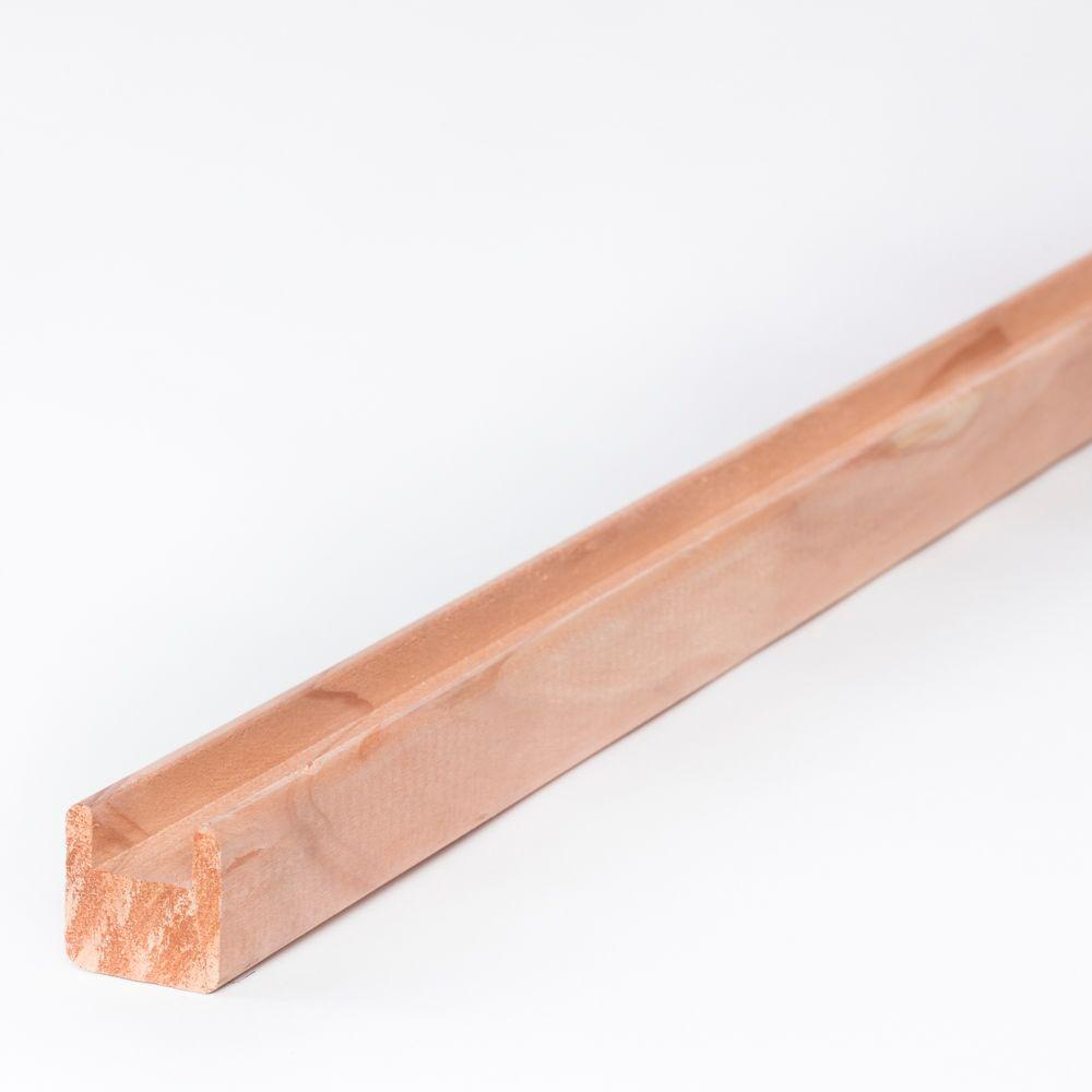 1-1/2 in. x 1-1/2 in. x 8 ft. Redwood Lattice Cap-01245 - The Home Depot