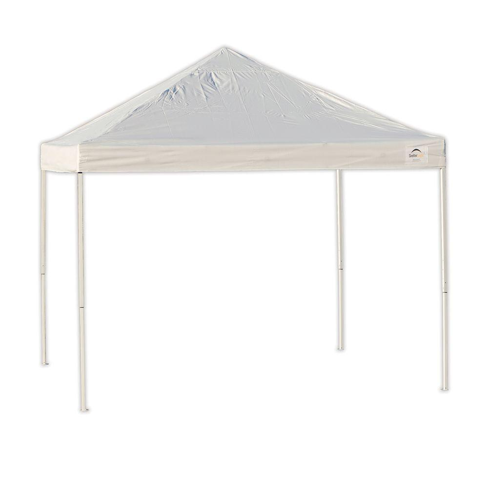ShelterLogic Pro Series 10 ft. x 10 ft. White Straight Leg Pop-Up Canopy-22586 - The Home Depot  sc 1 st  Home Depot : white pop up canopy - memphite.com
