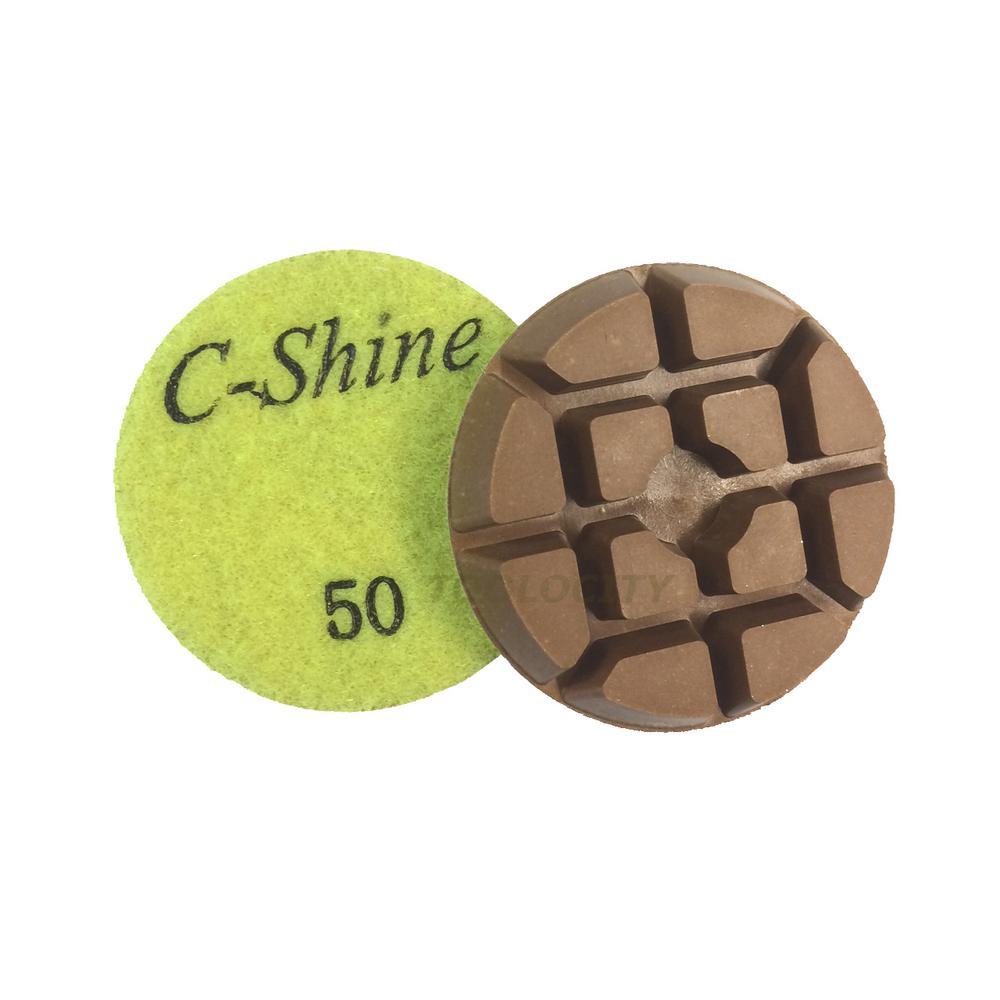 3 In 50 Grit Concrete Diamond Floor Polishing Pads Discs