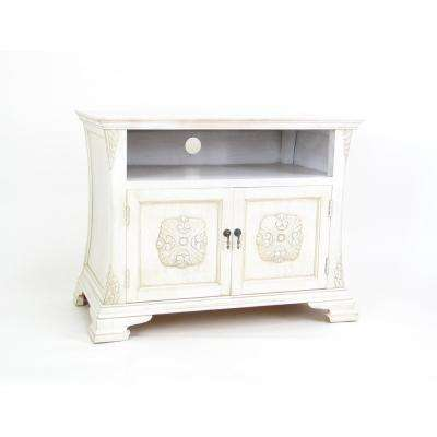 White Medallion TV Cabinet