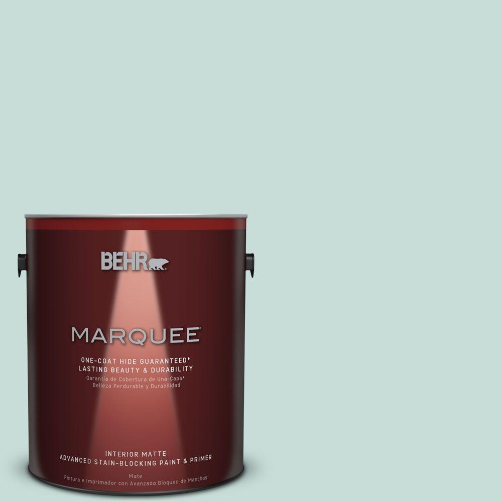 1 gal. #MQ3-20 Whipped Mint Matte One-Coat Hide Interior Paint and